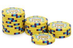 Rouleau de 25 jetons Grimaud PokerMaster 1000 - Pokeo.fr - Recharge de 25 jetons de poker Grimaud PokerMaster 1000 jaune, en clay composite 14g.