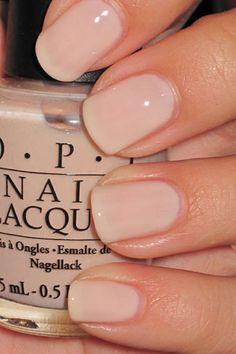 OPI Wedding Nails--yep. natural and so purddy!