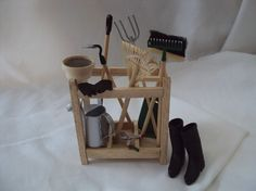 DOLLS HOUSE MINIATURES  Gardeners Tool Rack by LittleHouseAtPriory, $57.50