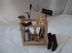 DOLLS HOUSE MINIATURES  Gardeners Tool Rack by LittleHouseAtPriory, $57.50
