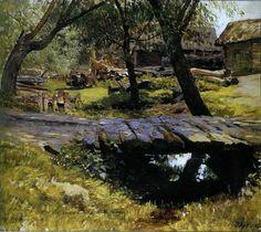 Левитан Исаак Ильич (1860-1900) Isaak Levitan Мостик. Саввинская слобода 1884