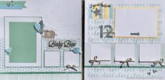 Whimsy Handmade Baby Boy Album Pages 1 and 12