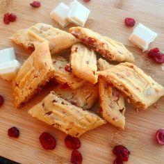 Kolakakor med tranbär & vitchoklad