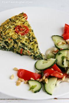 Plantaardigheidjes: Spinazie polenta taart