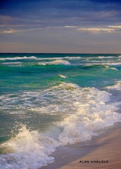 Early morning on the Emerald Coast, Destin, Florida. Sea And Ocean, Ocean Beach, Ocean Waves, Sunset Beach, Ocean Scenes, Beach Scenes, Seascape Paintings, Landscape Paintings, Ocean Wallpaper