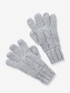 Fäustlinge / Handschuhe für Jungen - DUNKELROT+GRAU MELIERT - 3