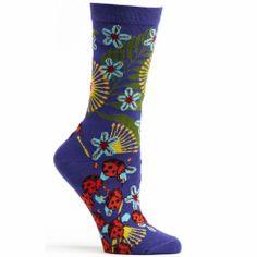 Violet Insect Warrior Socks (Women's)