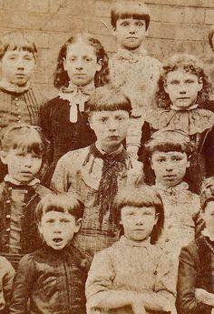 School children. Bristol, England. 1880s.