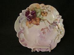 A. Lanternier porcelain candy plate with  blackberries