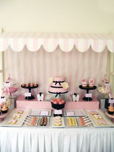 Pink & white Candy Lolly Shop display