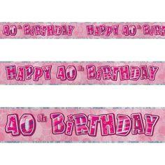 12ft Happy 40th Birthday Pink Sparkle Prismatic Party Foil Banner Decoration Unique http://www.amazon.com/dp/B0050ILHWM/ref=cm_sw_r_pi_dp_yqP2ub0FX5G8E