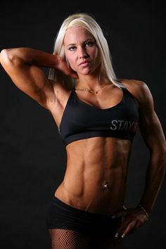 Finnish female bodybuilder and fitness model Heidi Vuorela