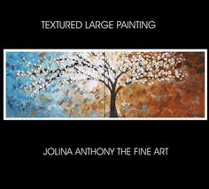 72 ready to hang xxl large  abstract landscape by jolinaanthony, $399.00