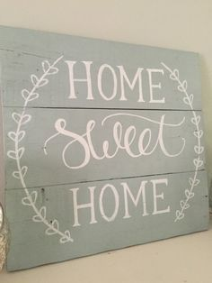 Home Sweet Home Sign Reclaimed Wood Pallet by SweetChalkDesigns