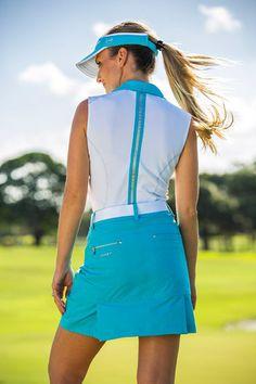 Daily Sports 2016 Kollektion FJ Sommer Baltic Blue 2 Girl Golf Outfit, Cute Golf Outfit, Girl Outfits, Girls Golf, Ladies Golf, Women Golf, Golf Wear, Golf Fashion, Lady