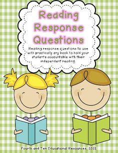Reading Response Home Reading Log {Freebie}