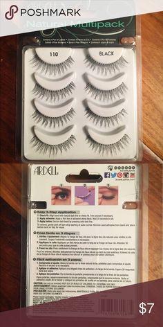ARDELL Natural Multipack False Lashes (4 pair) NIB. Color: Black ardell Makeup False Eyelashes