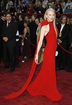 Nicole kidman balenciaga red dress
