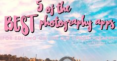 Sharing my 5 best photography apps, the apps I used to edit my photos on the go.
