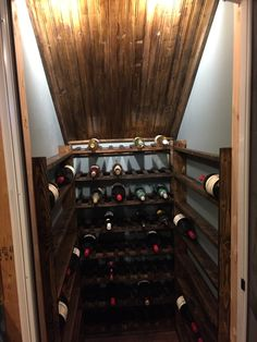 Wine Cellar Take wasted space in the basement and turn it into a private wine cellar!