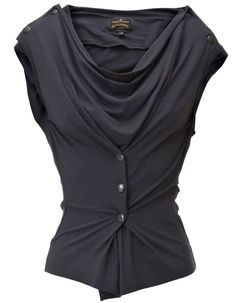 Great idea to put the buttons and button holes in the excess fabric around the centre, to accentuate the curve appeal. Dark Fashion, Fashion Looks, Beautiful Outfits, Cool Outfits, Moda Chic, Diy Couture, Mode Inspiration, Vivienne Westwood, Casual