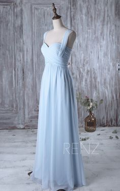 2017 Light Blue Bridesmaid Dress Long Sweetheart Wedding