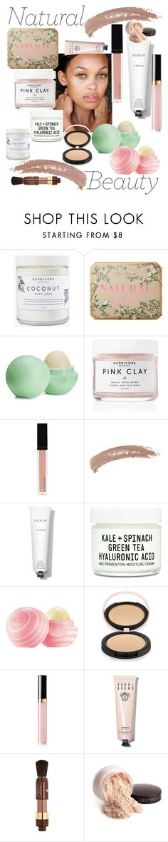 """""""Natural Beauty"""" by mdfletch ❤ liked on Polyvore featuring beauty, Herbivore, Too Faced Cosmetics, Eos, Witchery, Topshop, Rodin, Youth To The People, Estelle & Thild and Chanel"""