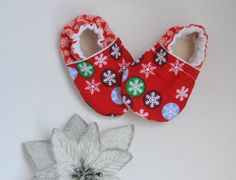 Xmas baby outfit Christmas baby shoes Snowflake shoes