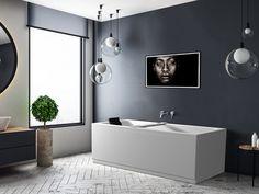 Idun akrylkar med nakkepute og badekarbro ❤ Et populært badekar pga sin beskjedne størrelse. Fåes i størrelse 150x70, 160x70 og 170x70. Idun kan utstyres med massasje eller fantastiske MicroSilk® og karkantarmatur kan monteres. Ønsker du å sette personlig preg på karet, så er det tilgjengelig med panelfarge etter eget ønske med RAL fargekode 🌈 Home Crafts, Diy Crafts, Bathroom Lighting, Bathtub, Mirror, Furniture, Home Decor, Bathroom Light Fittings, Standing Bath