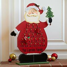 Stand our clever Santa advent figurine next to your tree or on a tabletop and let the anticipation of Christmas begin! Just fill each number...