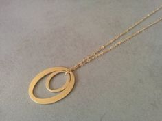 Gold Circle Necklace, Circle Necklace, Long #jewelry #necklace @EtsyMktgTool http://etsy.me/2zOO6CE #goldcirclenecklace #circlenecklace
