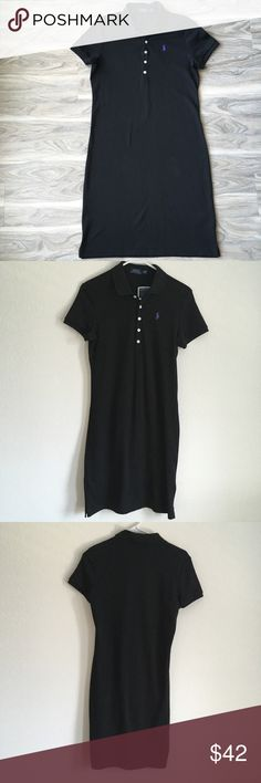 """Ralph Lauren black polo tennis dresss NWT Ralph Lauren black polo tennis dresss NWT. Would be so cute with sneakers ! Very comfortable, about 37"""" in length Ralph Lauren Dresses Midi"""