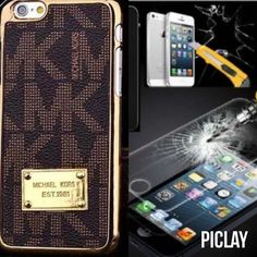 2x Mk iPhone 6 Plus case and screen protector Brown/black Accessories Phone Cases