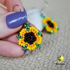 Sunflower earrings Yellow seed bead earrings Flower earrings Dainty earrings Minimalist earrings Sunflower jewelry for women Seed Bead Necklace, Seed Bead Jewelry, Bead Jewellery, Seed Beads, Silver Jewelry, Silver Ring, Jewelry Bracelets, Dainty Jewelry, Fine Jewelry