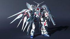 Self-Customed Gundam, Alex Lee on ArtStation at https://www.artstation.com/artwork/self-customed-gundam
