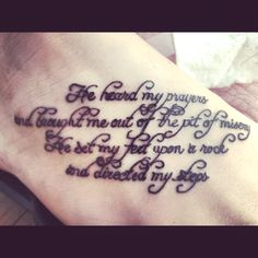 one of my fav verses but i would have a different font     Bible tattoo, Bible tattoo, Bible tattoo :)