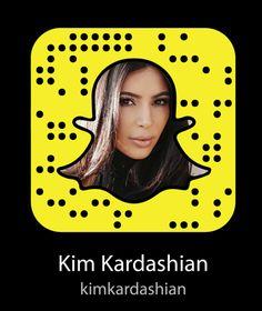 Here is Kim Kardashians snapcode! We all get the choice of having a selfie, a bitmoji photo, or a blank space! Snapchat Girl Usernames, Snapchat Accounts To Follow, Snapchat Codes, Snapchat Girls, Kim Kardashian Snapchat, Kim Kardashian Kylie Jenner, Robert Kardashian, Famous People Snapchat, Celebrity Snapchats