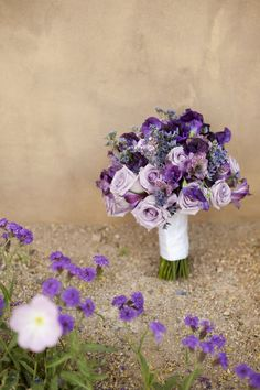 Lovely Purple Hued Wedding at Sassi via http://www.weddingcolors.net/lavender-in-the-desertsamantha-hank.html | Photo by:  segallphotography.com