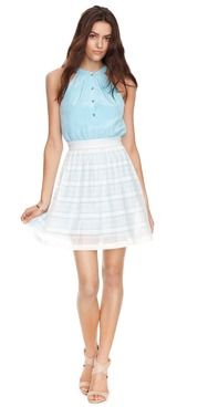 Love the flattering blue of our Geneve dress! Get yours at Ali-Ro.com