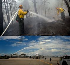 images of  blackforest fire | Top: Firefighters douse hot spots while fighting the Black Forest Fire ...