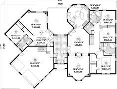 House plan with guest quarters house design plans for Home plans with detached guest house