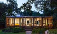 A modern day oasis lost in the middle of a massive urban metropolis, the Brillhart House bucks an entire fist full of trends as it provides a lush tropical paradise in the heart of Miami. The ...