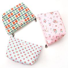 2Young Flower pattern zipper pouch - Large
