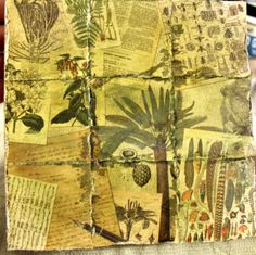 Serengeti Paper Mosaic - 7gypsies paper collection of vintage African artwork -mixed media art