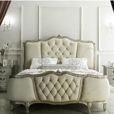 french provincial bed frame tufted wing footboard