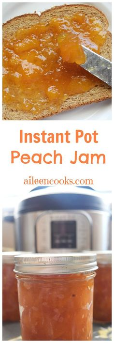 Make this instant pot peach jam and enjoy homemade jam from fresh summer peaches for months! via @aileencooks