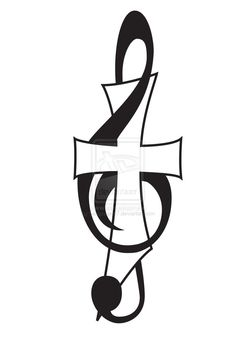 music cross tattoos | Music Cross