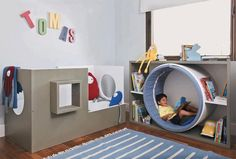 What a lovely, playful kid's space!