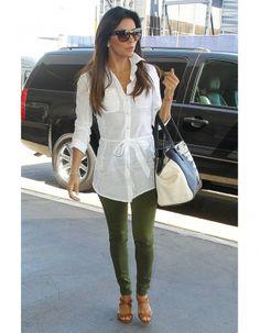 Le look du jour : Eva Longoria, casual-chic à l'aéroport - Elle