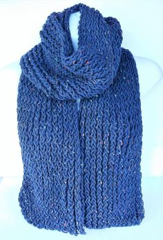 Check out this item in my Etsy shop https://www.etsy.com/uk/listing/511528357/blue-hipster-scarf-aran-knit-scarf-knit